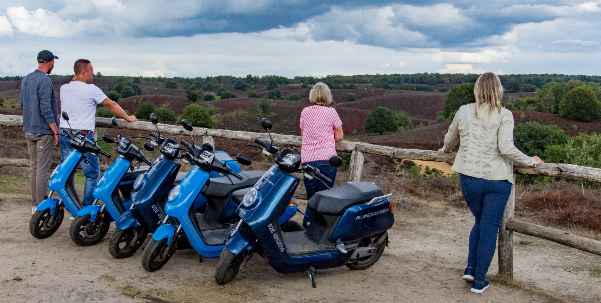 VeluweScooter met uitzicht Posbank