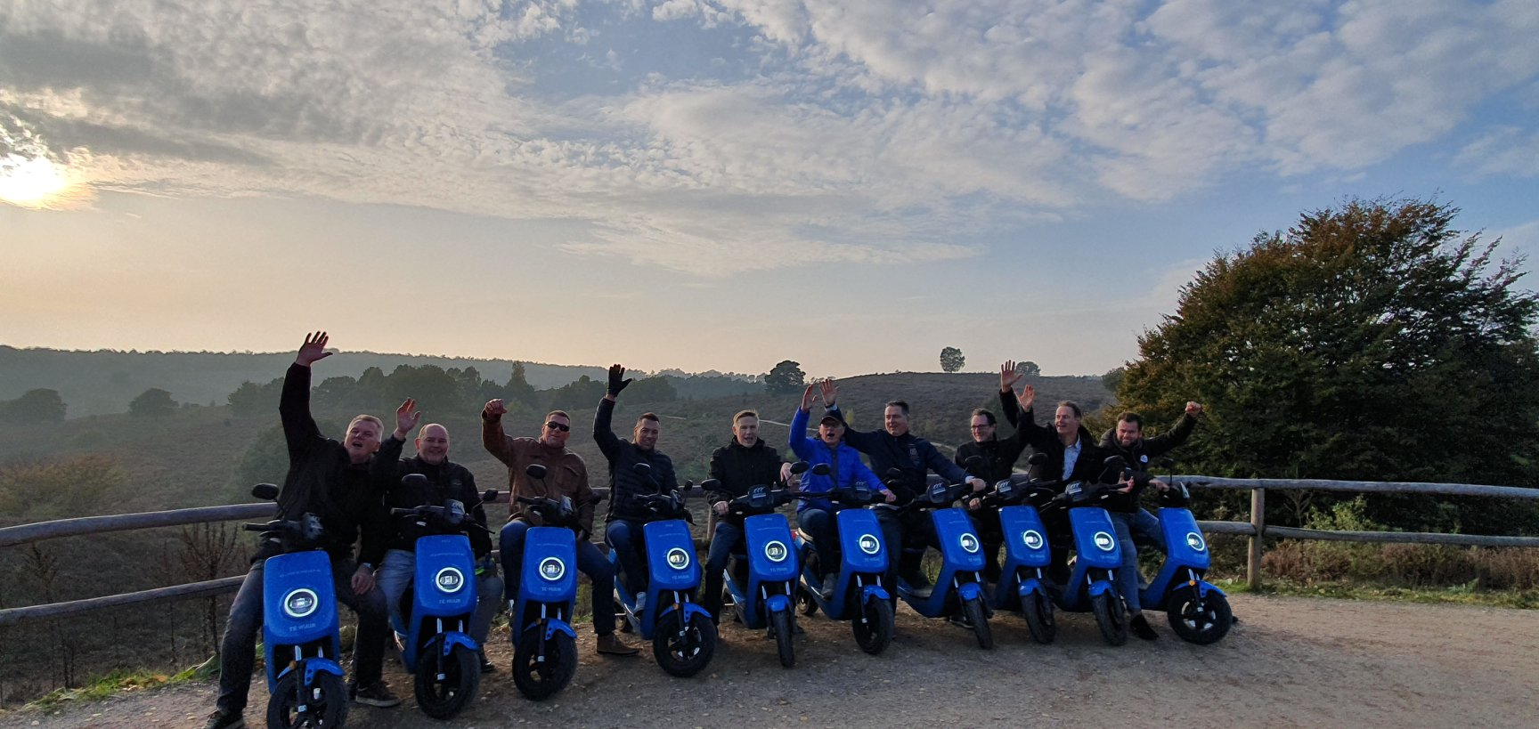 Teambuilding Veluwescootertocht