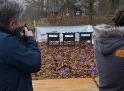 Hollands Biathlon Laser Schieten (met vragen- opdrachtenspel)