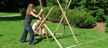 Reuze Katapult bouwen