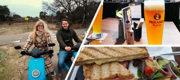 WaalScootertocht met lunch bij Café de Zon